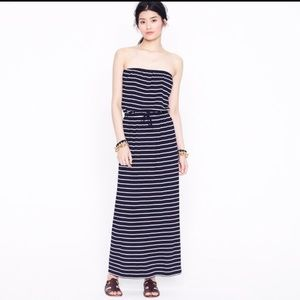 J. Crew Black with White Stripes Maxi